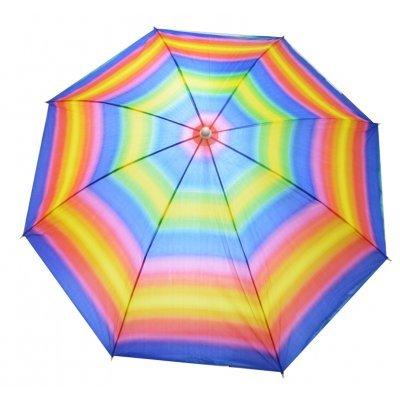 Ομπρέλα θαλάσσης Nylon με ρίγες χρωματιστές - 170 cm