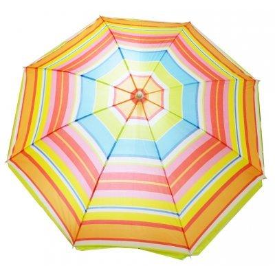 Ομπρέλα θαλάσσης Nylon με ρίγες πολύχρωμες - 170 cm