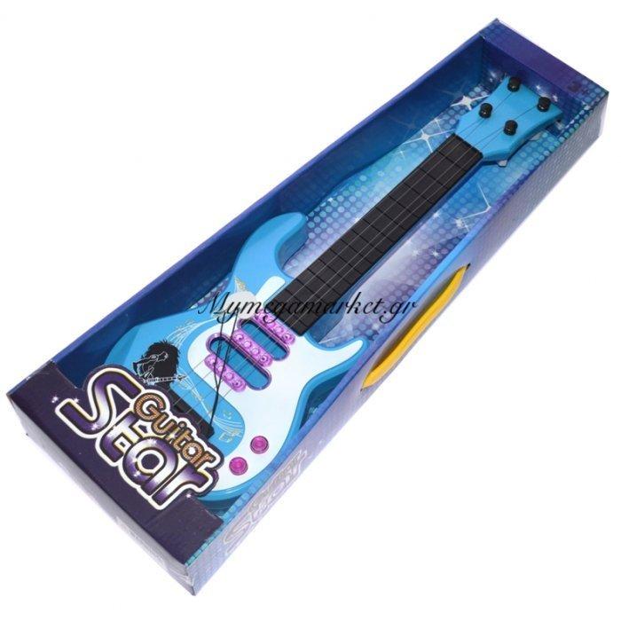 Κιθάρα παιδική σε γαλάζιο χρώμα - Guitar Star | Mymegamarket.gr