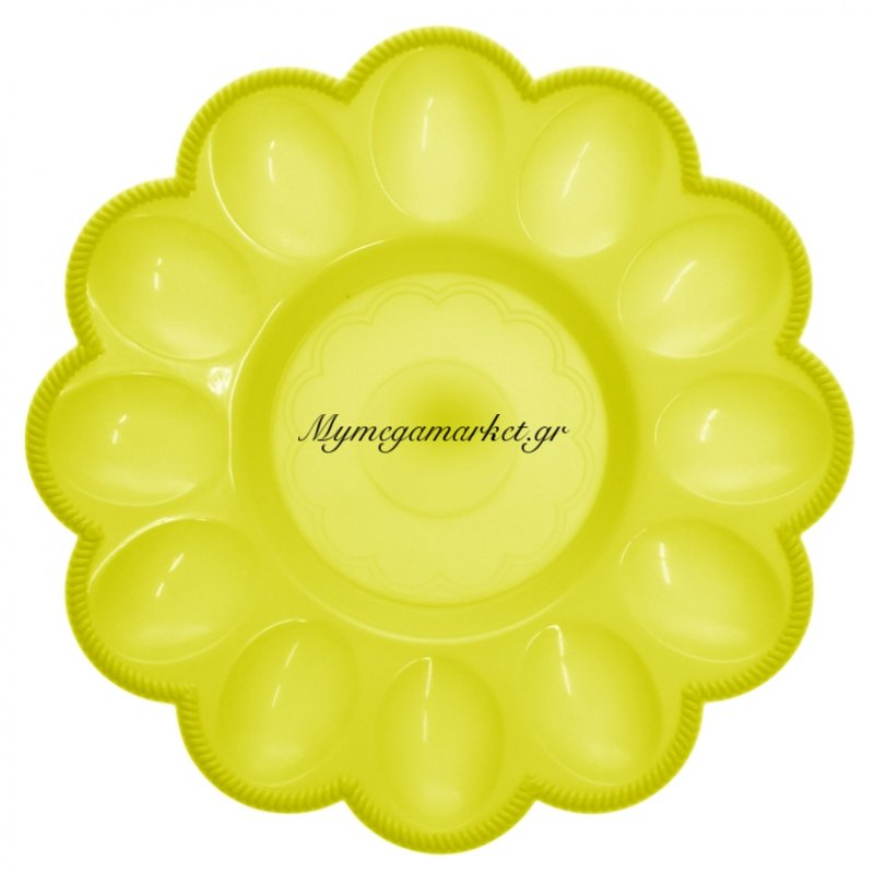 Αυγοθήκη πλαστική - 12 θέσεων - Κίτρινο by Mymegamarket.gr
