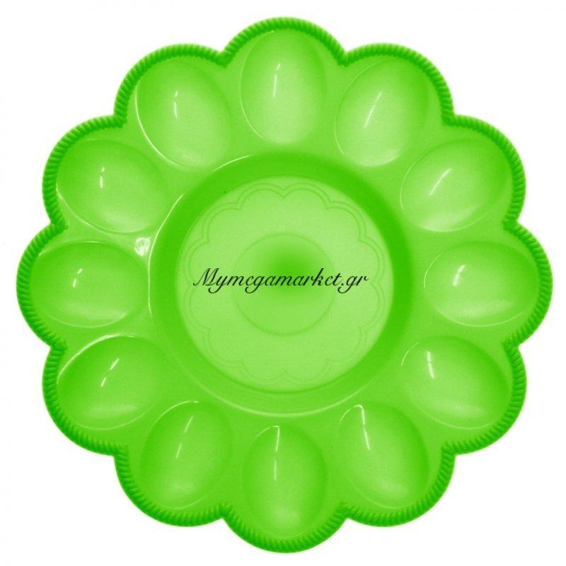 Αυγοθήκη πλαστική - 12 θέσεων - Πράσινη by Mymegamarket.gr