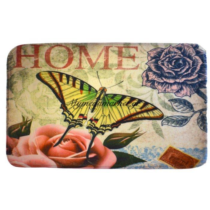 Πατάκι Flanel - Foam - 50 x 80 cm - Butterfly | Mymegamarket.gr