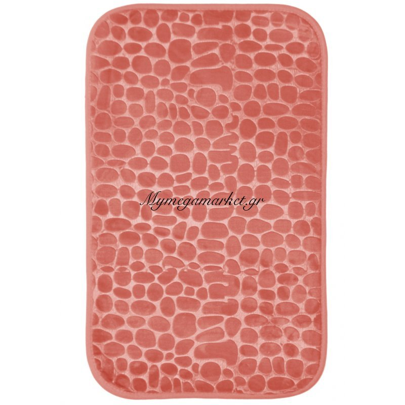 Πατάκι μπάνιου με Foam Rock σομόν - ρόζ 50 x 80 cm