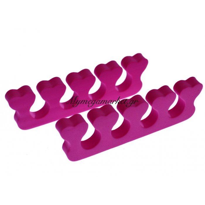 Διαχωριστικό δαχτύλων ποδιού για πεντικιούρ - Φούξια - Σέτ 2 τμχ | Mymegamarket.gr