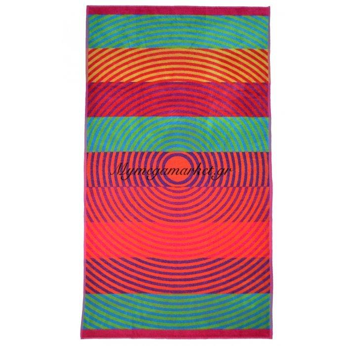 Πετσέτα θαλάσσης Jacquard design Cycles 86 x 160 cm | Mymegamarket.gr