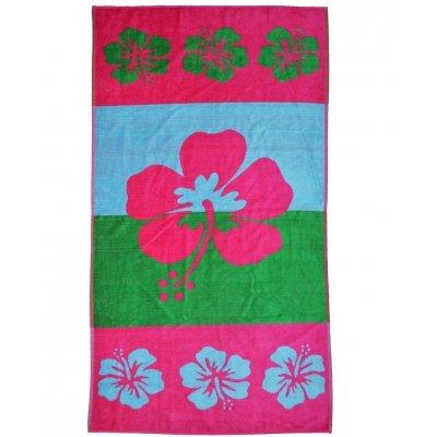 Πετσέτα θαλάσσης Jacquard design Flower 86 x 160 cm