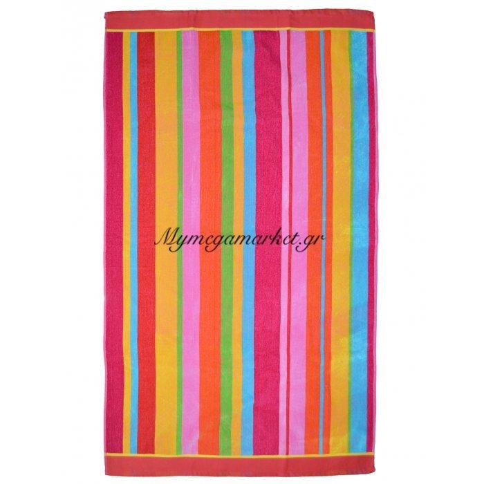 Πετσέτα θαλάσσης Jacquard design Πολύχρωμη 86 x 160 cm | Mymegamarket.gr