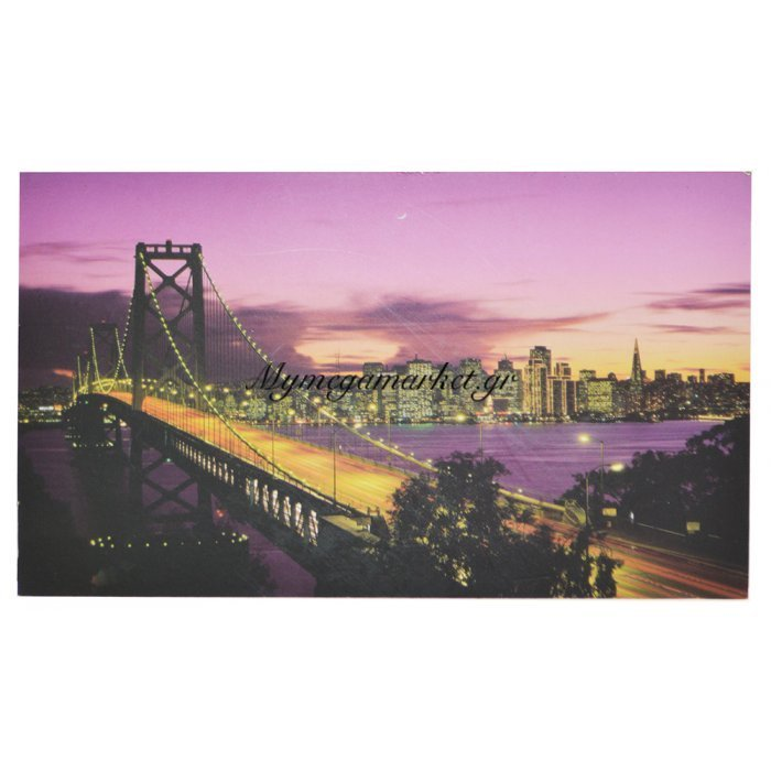 Πίνακας ξύλινος Design - Bridge San Francisco - No 14 | Mymegamarket.gr