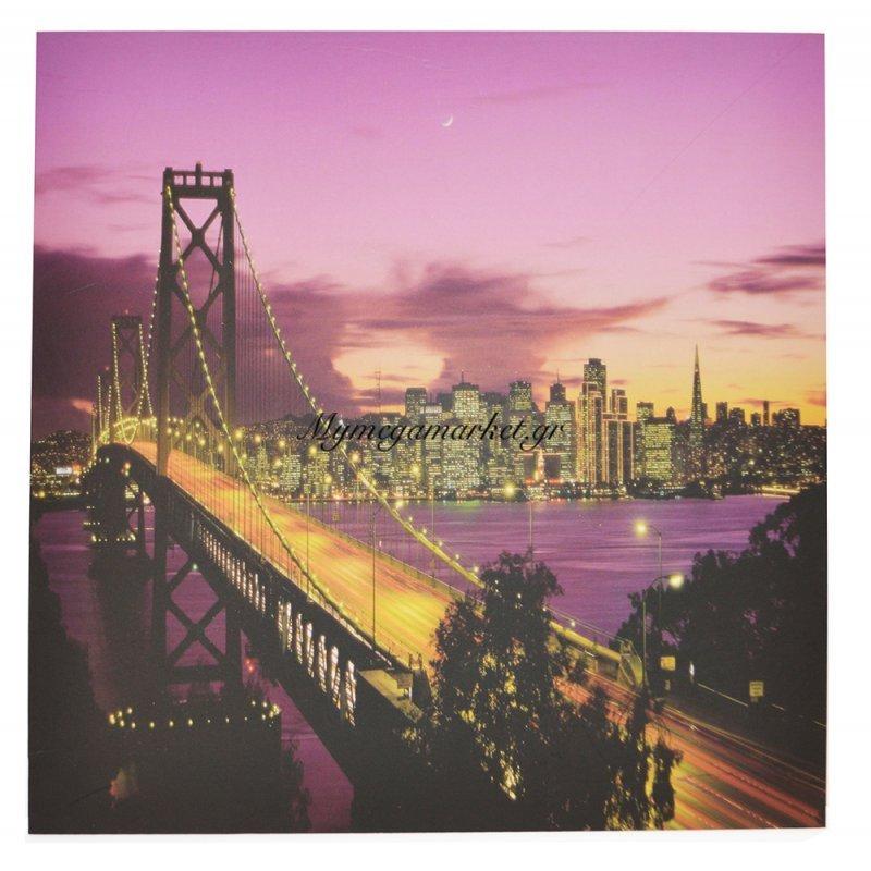 Πίνακας ξύλινος Design - Bridge San Francisco - No 38