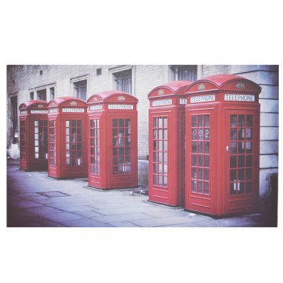 Πίνακας ξύλινος Design - Telephone Booths London - No 14