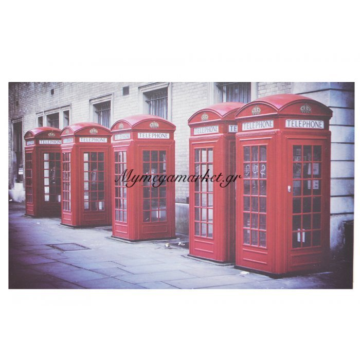 Πίνακας ξύλινος Design - Telephone Booths London - No 14 | Mymegamarket.gr