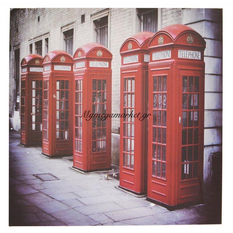 Πίνακας ξύλινος Design - Telephone Booths London - No 38