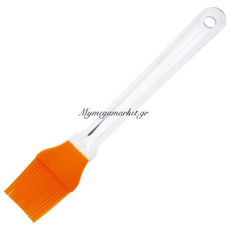 Πινέλο σιλικόνης με ακρυλική λαβή - πορτοκαλί