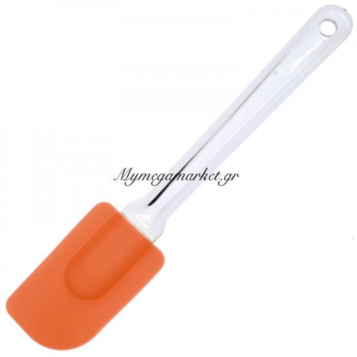 Σπάτουλα σιλικόνης με ακρυλική λαβή - πορτοκαλί | Mymegamarket.gr