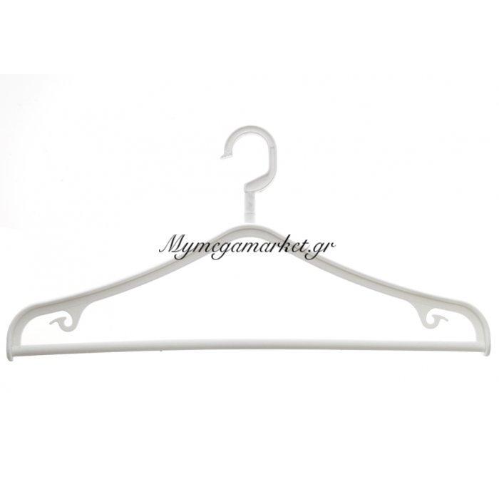 Κρεμάστρα πλαστική περιστρεφόμενη οικολογική σε λευκό χρώμα | Mymegamarket.gr