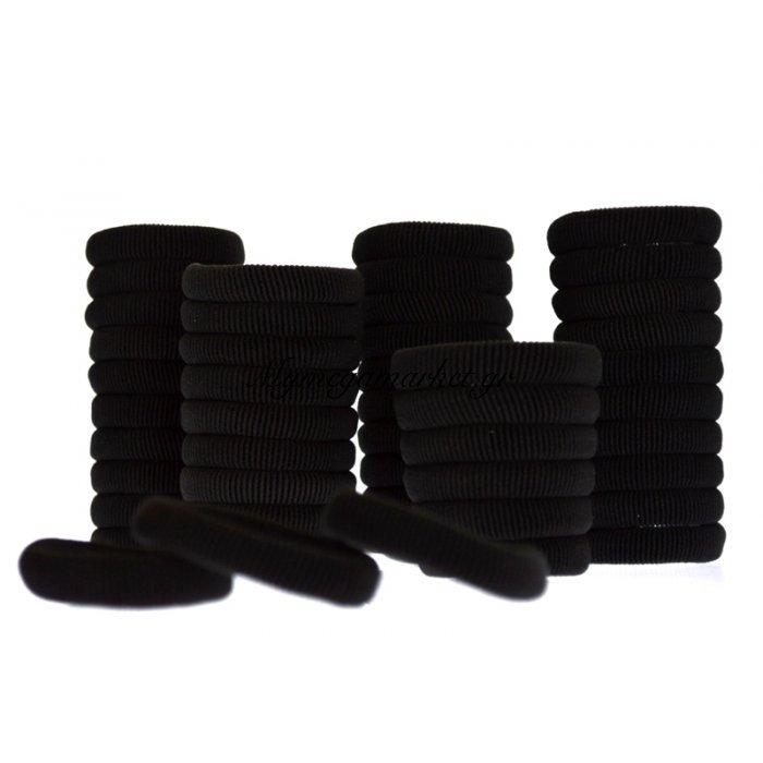 Σέτ λαστιχάκια μαύρα 50 τμχ. | Mymegamarket.gr