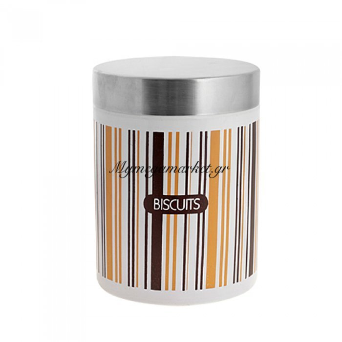 Μπισκοτιέρα μεταλλική με ανοξείδωτο καπάκι | Mymegamarket.gr