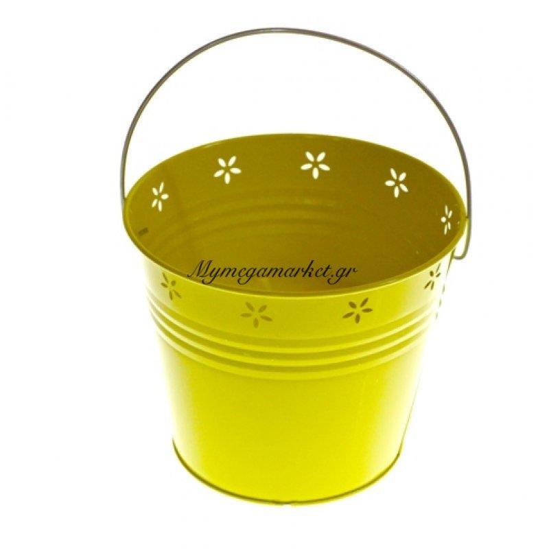 Αντικουνουπικό κερί αρωματικό σε κίτρινο γλαστράκι μεταλλικό