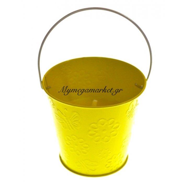Αντικουνουπικό κερί αρωματικό σε κίτρινο γλαστράκι μεταλλικό | Mymegamarket.gr