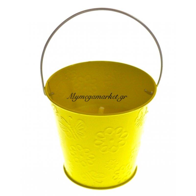 Αντικουνουπικό κερί αρωματικό σε κίτρινο γλαστράκι μεταλλικό Στην κατηγορία Κασπώ - γλαστράκια | Mymegamarket.gr