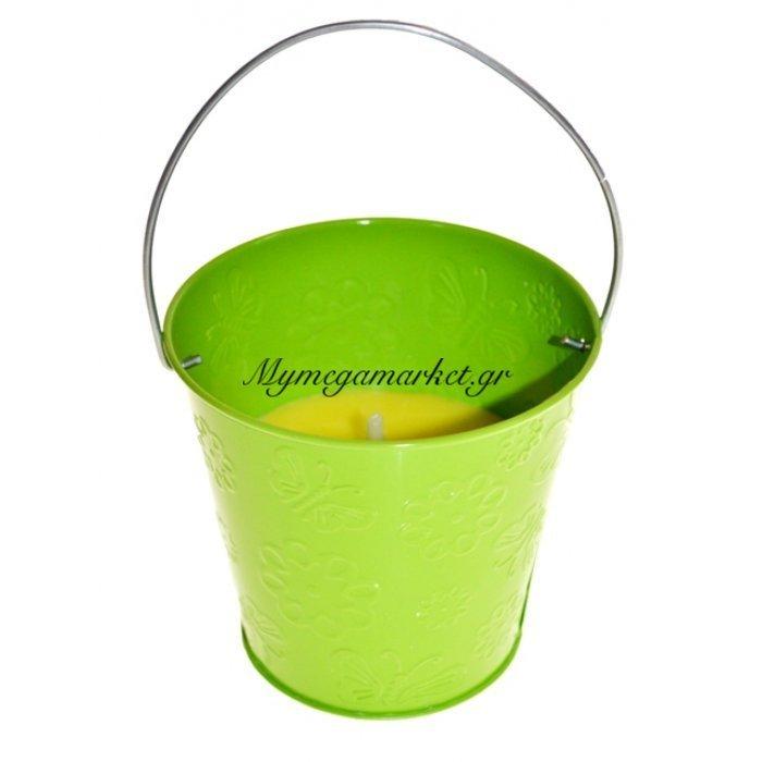 Αντικουνουπικό κερί αρωματικό σε λαχανί γλαστράκι μεταλλικό | Mymegamarket.gr