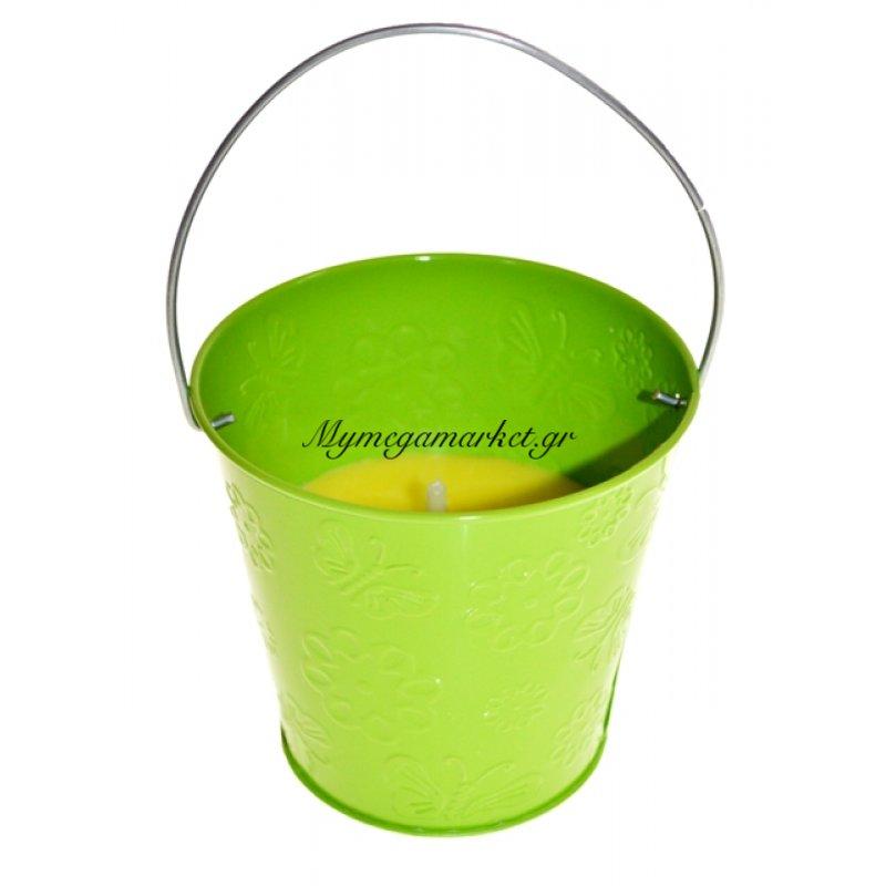 Αντικουνουπικό κερί αρωματικό σε λαχανί γλαστράκι μεταλλικό Στην κατηγορία Κασπώ - γλαστράκια | Mymegamarket.gr