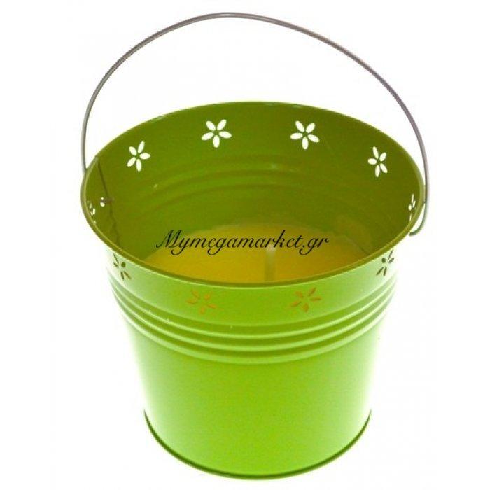Αντικουνουπικό κερί αρωματικό σε λαχανί γλαστράκι μεταλλικό μεγάλο | Mymegamarket.gr