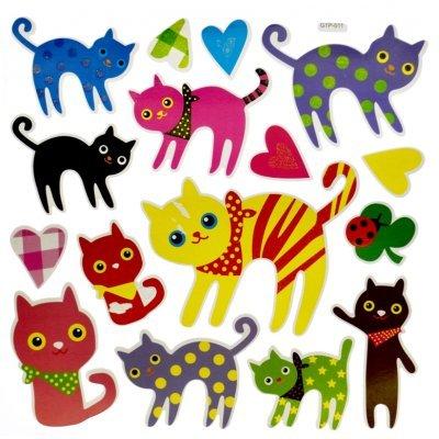 Αυτοκόλλητα τοίχου με γατούλες