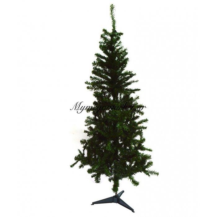 Δέντρο χριστουγεννιάτικο πράσινο με πλαστική βάση 150 cm | Mymegamarket.gr