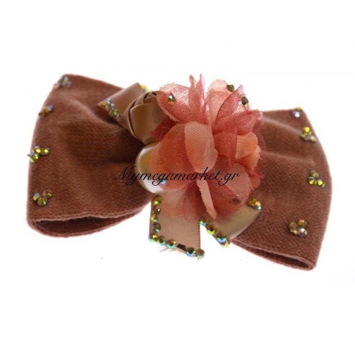 Φιόγκος μαλλιών με τσιμπιδάκι σε ρόζ χρώμα | Mymegamarket.gr