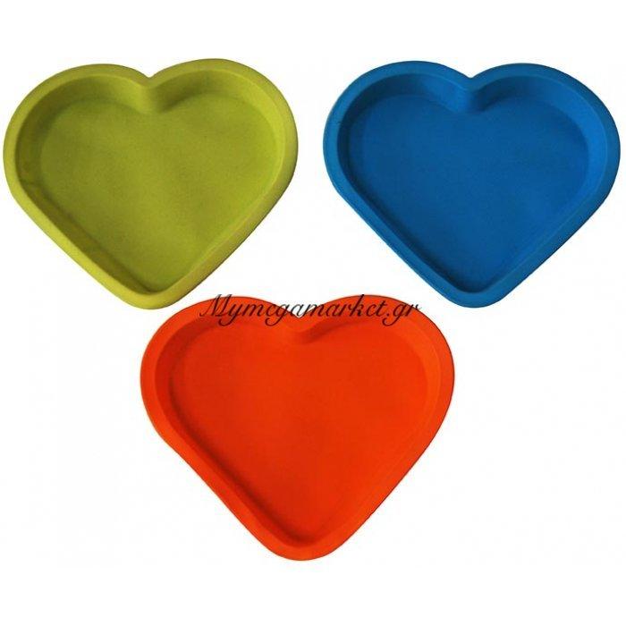 Φόρμα σιλικόνης καρδιά σε διάφορα χρώματα | Mymegamarket.gr