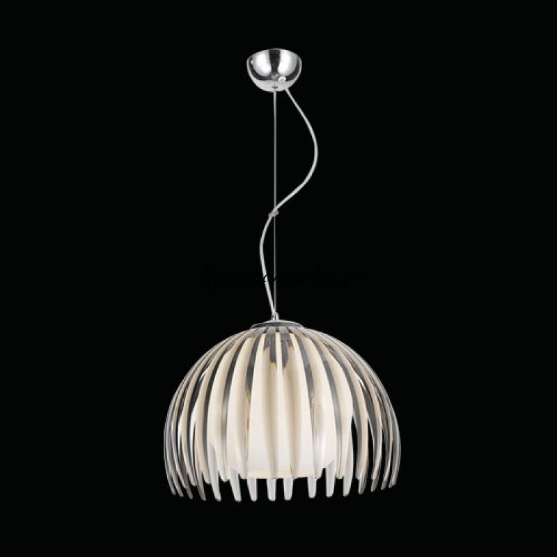 Φωτιστικό οροφής μονόφωτο γκρί plexiglass - γυαλί - Nava