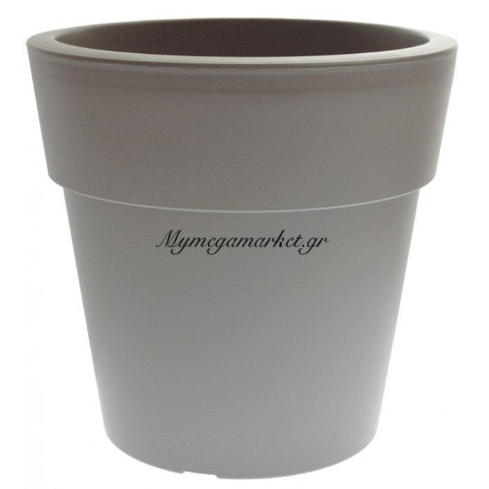 Γλάστρα Linea χρώμα γκρί ανοιχτό 2 λίτρων | Mymegamarket.gr