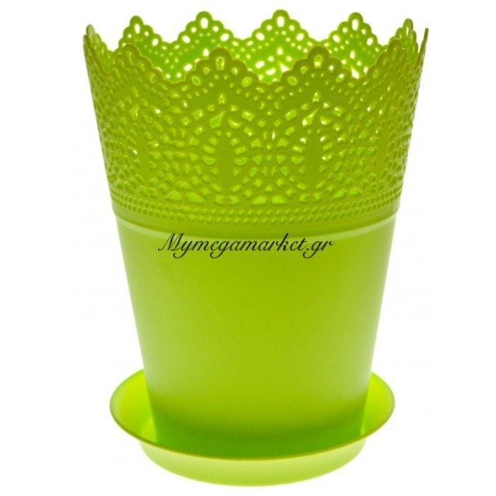 Γλαστράκι με πιάτο σε πράσινο χρώμα | Mymegamarket.gr