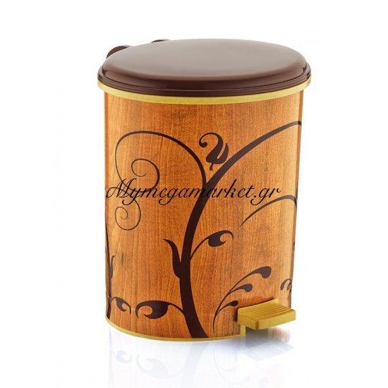 Kάδοι μπάνιου πλαστικοί decor & πιγκάλ (Kαφέ με κλαριά) Στην κατηγορία Κάδοι αποριμμάτων - Πιγκάλ πλαστικά | Mymegamarket.gr