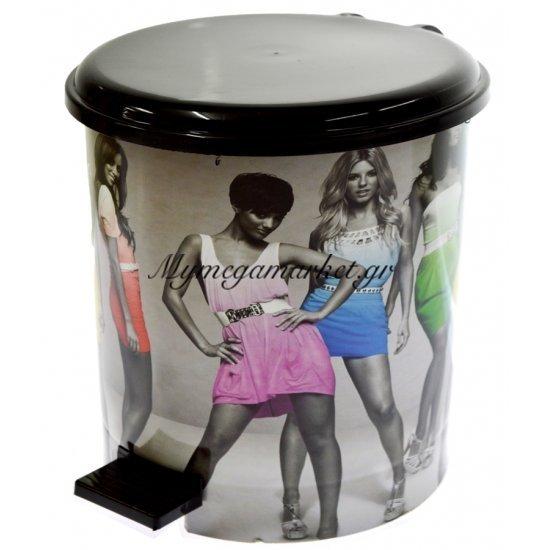 Κάδος μπάνιου με πεντάλ σχέδιο μοντέλα με μάυρο καπάκι 10 λίτρων Στην κατηγορία Κάδοι αποριμμάτων - Πιγκάλ πλαστικά | Mymegamarket.gr