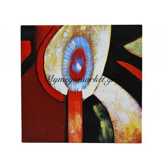 Καμβάς με λαδομπογιά με αφηρημένο θέμα μάυρο & πορτοκαλί Στην κατηγορία Πίνακες ζωγραφικής | Mymegamarket.gr