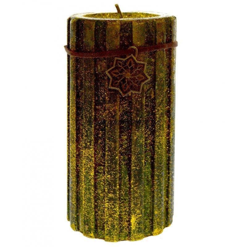 Κερί χριστουγεννιάτικο σε χρυσό-πράσινο χρώμα 19 x 8 cm Στην κατηγορία Κεριά Χριστουγεννιάτικα | Mymegamarket.gr