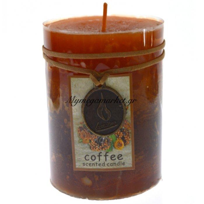Κερί Lumiere επιτραπέζιο με άρωμα καφέ 10 x 6,8 cm | Mymegamarket.gr