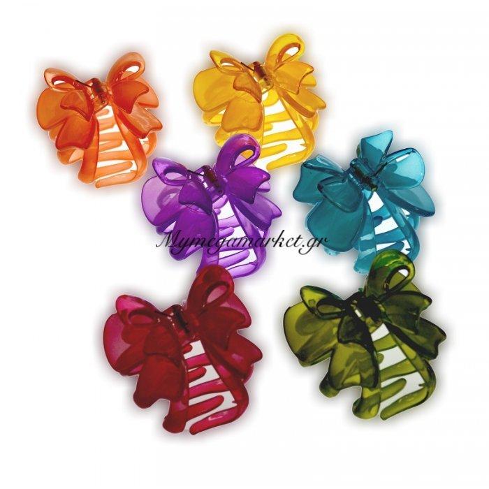Κλάμερ μαλλιών με σχέδιο φιογκάκι σε 6 χρώματα | Mymegamarket.gr