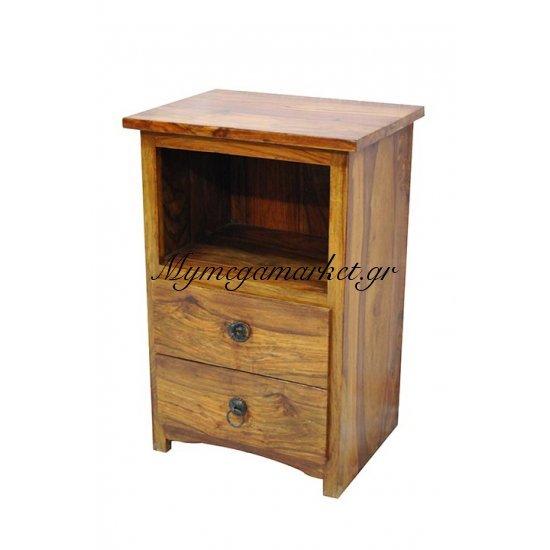 Κομοδίνο απο ξύλο μασίφ καφέ χρώμα Στην κατηγορία Κομοδίνα - Συρταριέρες   Mymegamarket.gr