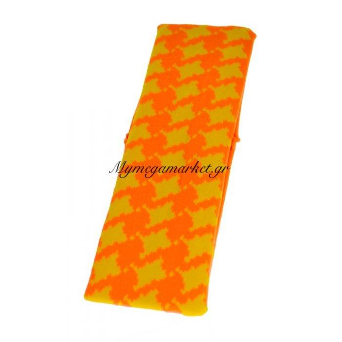 Κορδέλα μαλλιών ελαστική σε πορτοκαλί - κίτρινο χρώμα | Mymegamarket.gr