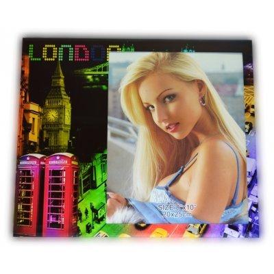 Κορνίζα γυάλινη με θέμα LONDON 20 x 25 cm
