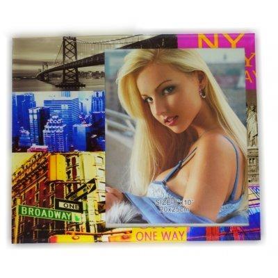 Κορνίζα γυάλινη με θέμα NEW YORK 15 x 20 cm