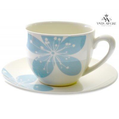 Κούπα τσαγιού με πιάτο Settia blue - Vista alegre