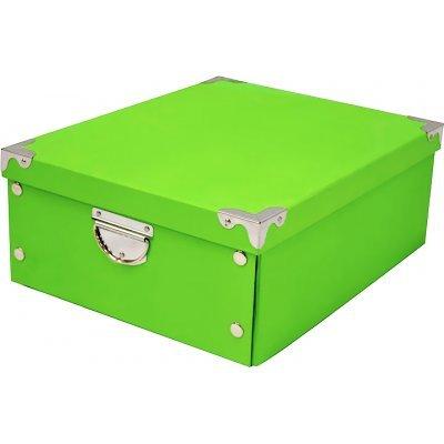 Kουτί αποθήκευσης απο χαρτόνι υψηλής ποιότητας σε πράσινο χρώμα με μεταλλίκα χερούλια