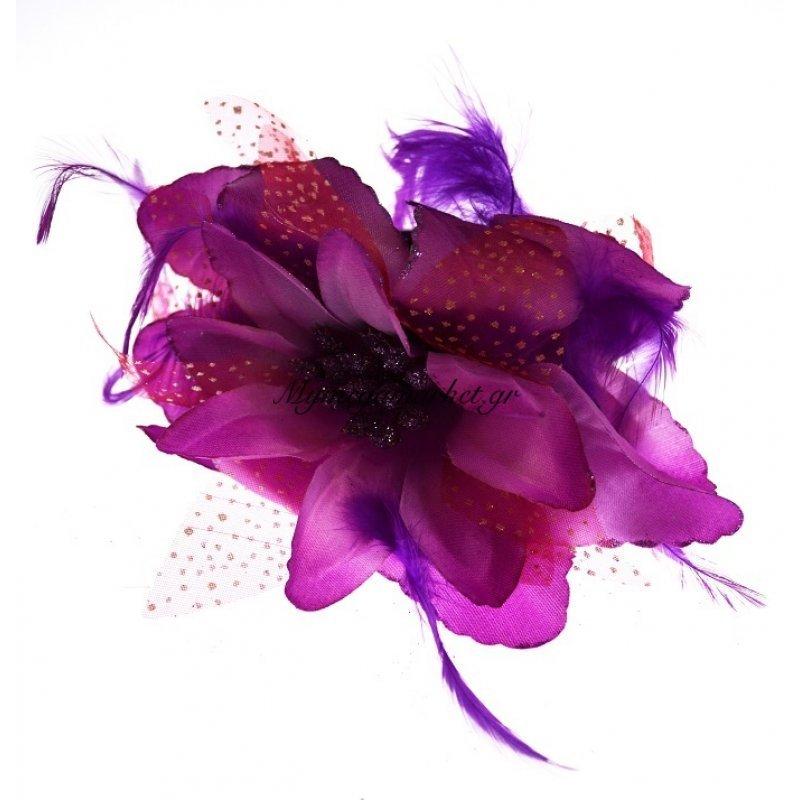 Λουλούδι κλάμερ σε μώβ χρώμα