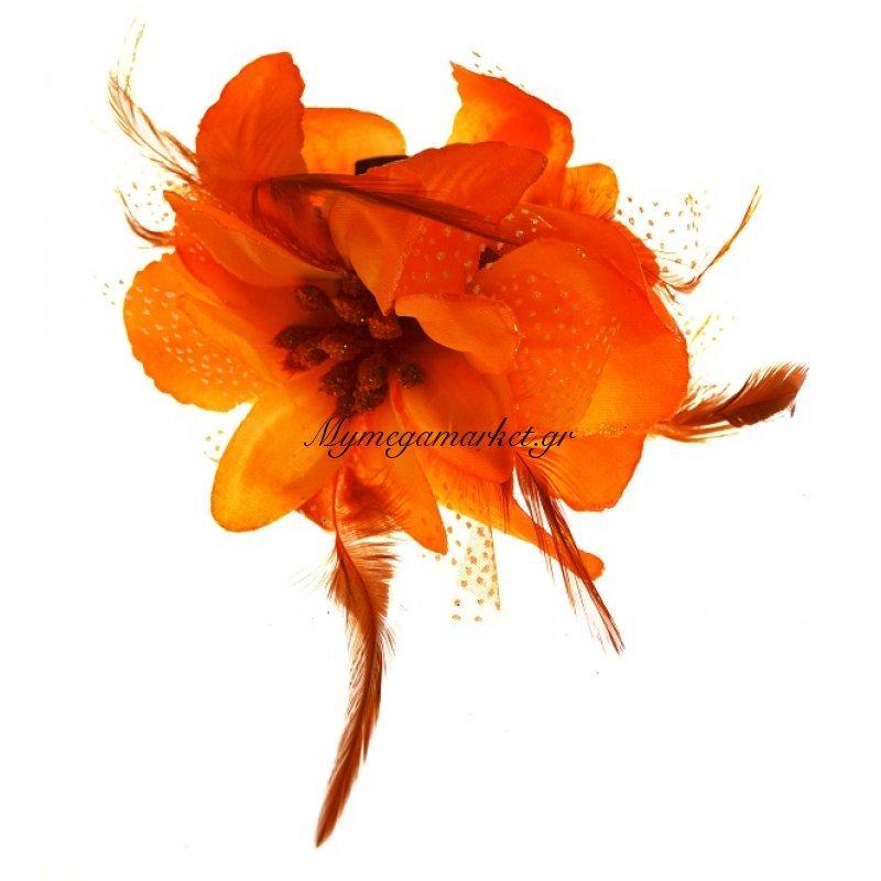 Λουλούδι κλάμερ σε πορτοκαλί χρώμα