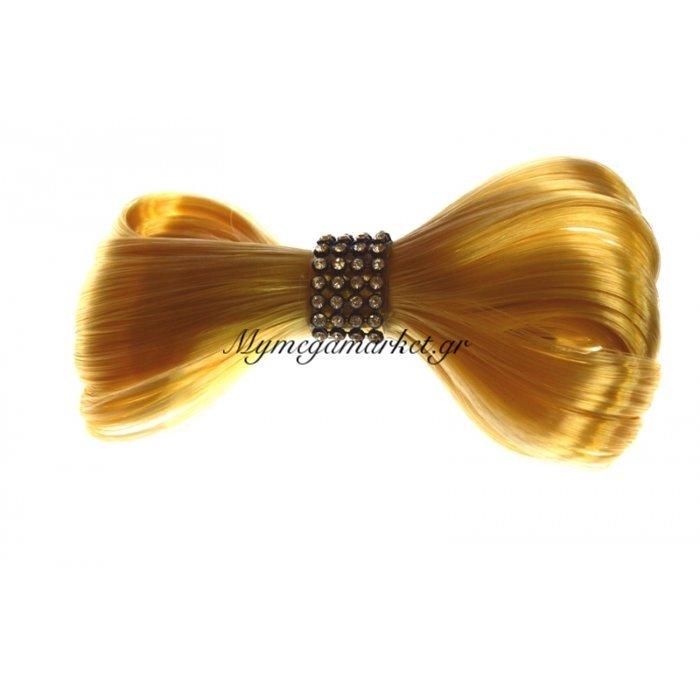 Μαλλί φιόγκος με τσιμπιδάκι σε ξανθό χρώμα | Mymegamarket.gr