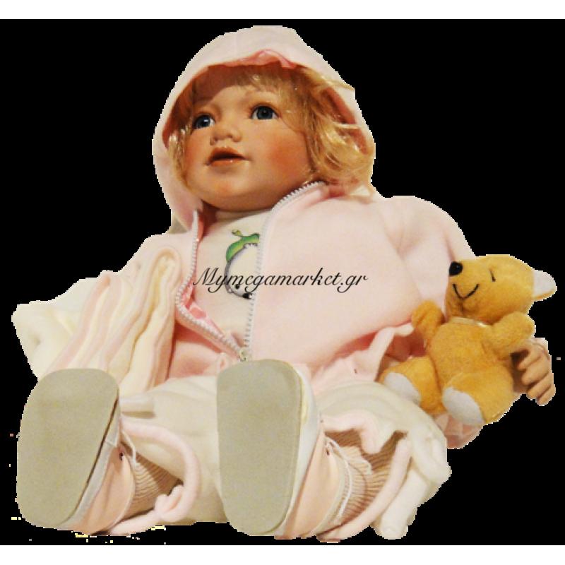 Μωρό απο πορσελάνη με αρκουδάκι και κουβέρτα ύπνου